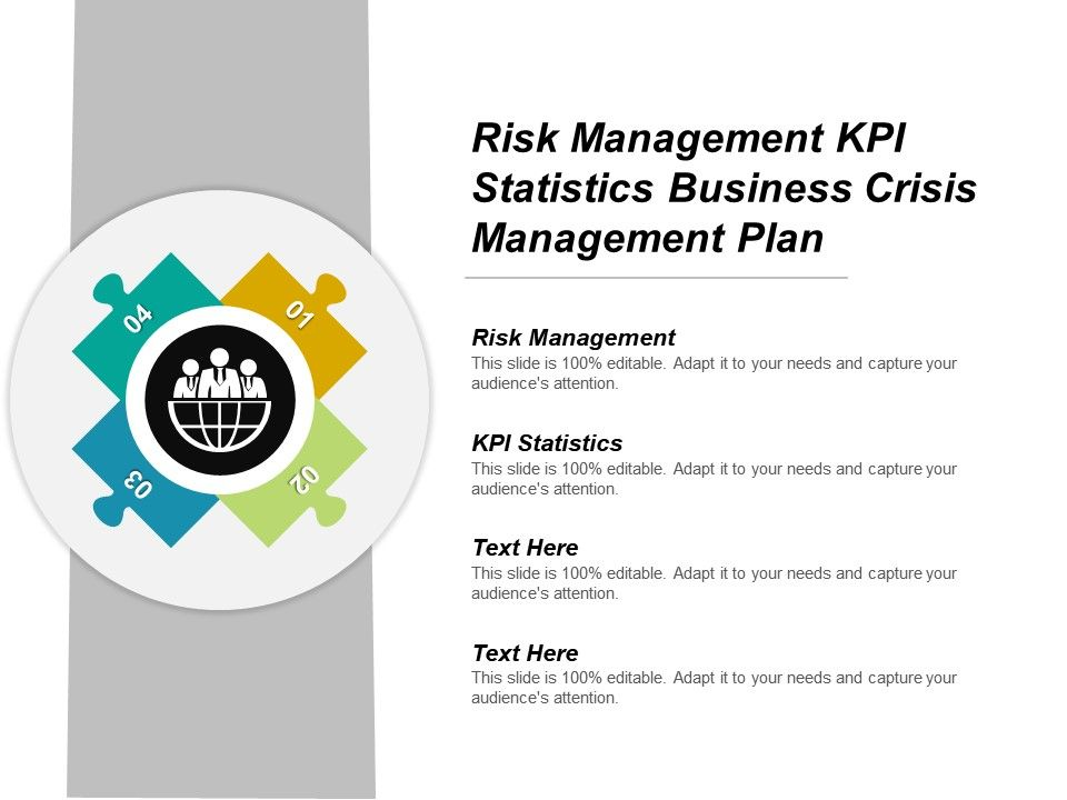 Risk Management Kpi Statistics Business Crisis Plan Cpb Slide01 Slide02