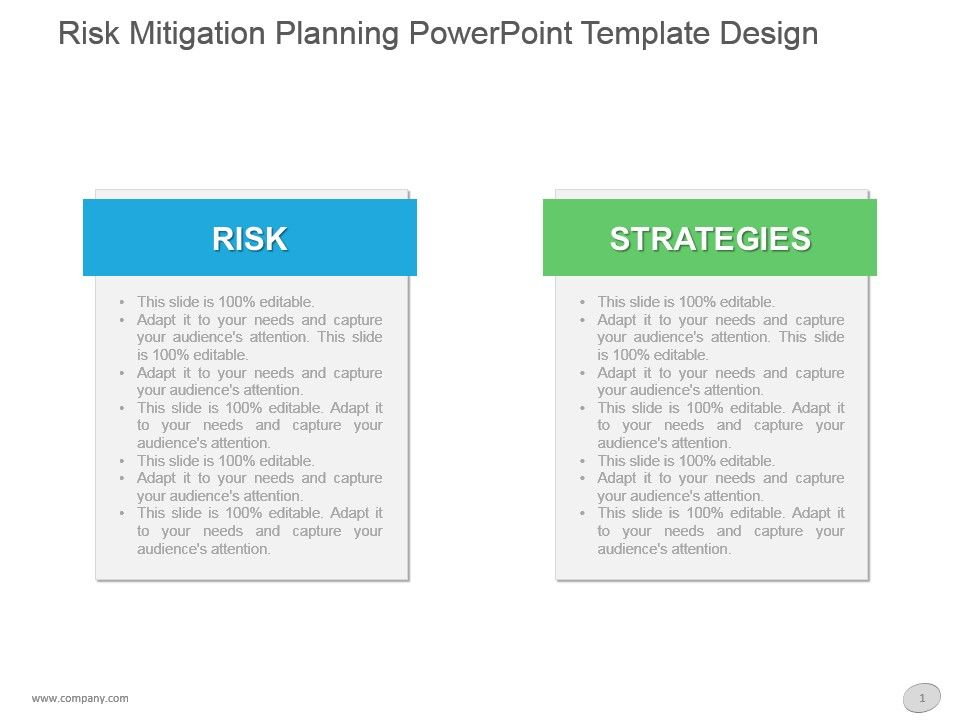 risk mitigation planning powerpoint template design | templates, Presentation templates