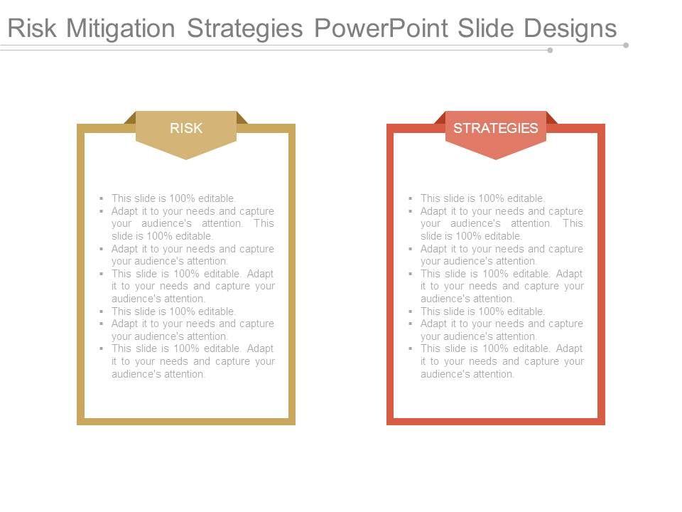 risk mitigation strategies powerpoint slide designs | powerpoint, Presentation templates
