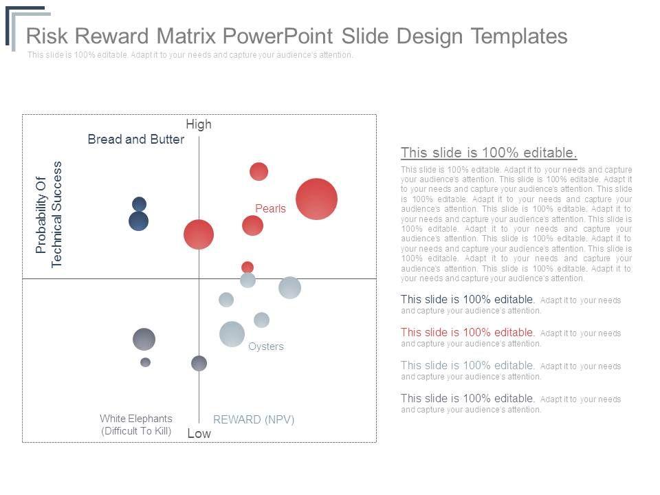 risk_reward_matrix_powerpoint_slide_design_templates_Slide01