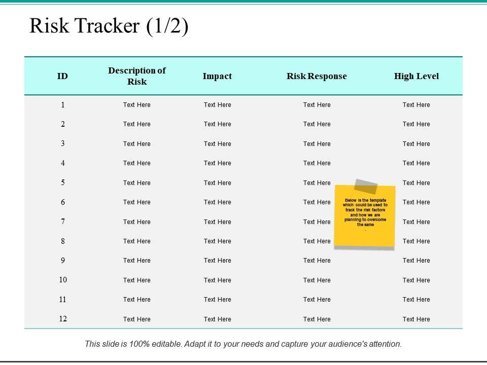 risk_tracker_risk_response_ppt_powerpoint_presentation_file_example_Slide01