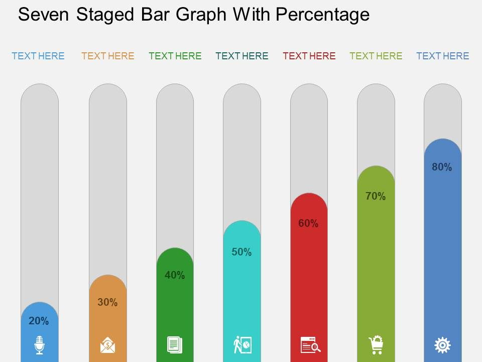 ro_seven_staged_bar_graph_with_percentage_flat_powerpoint_design_Slide01