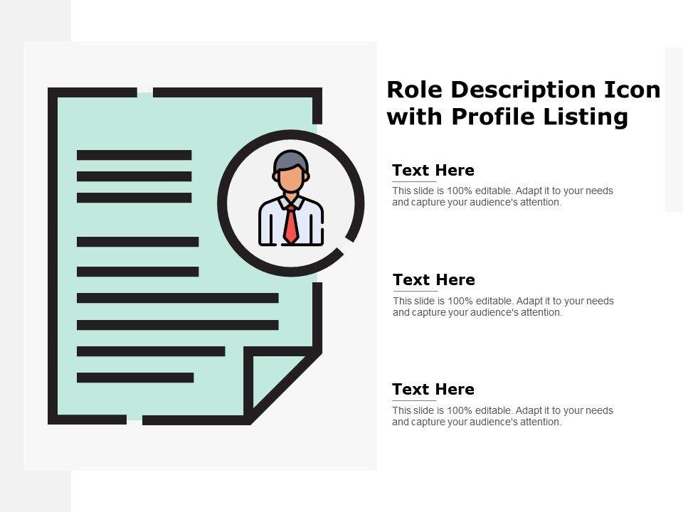 Role Description Icon With Profile Listing | Templates