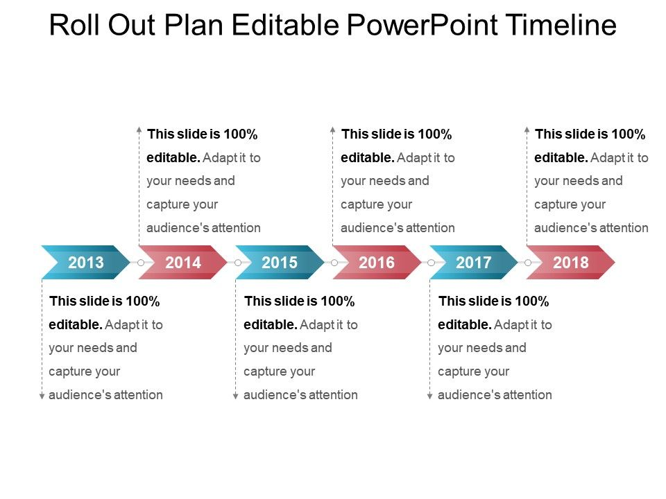 roll out plan editable powerpoint timeline templates powerpoint