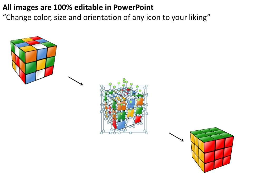Rubik Cube Powerpoint Template Slide  Presentation Powerpoint