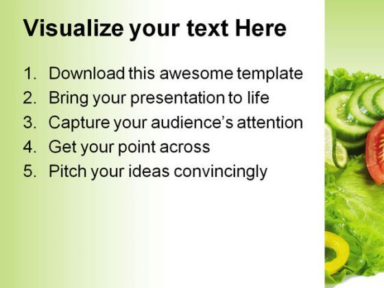 Salad Food Powerpoint Template   Powerpoint Presentation