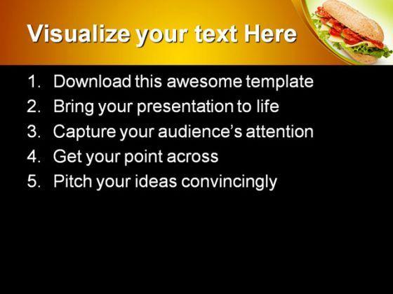 salami submarine sandwich food powerpoint templates and powerpoint, Presentation templates