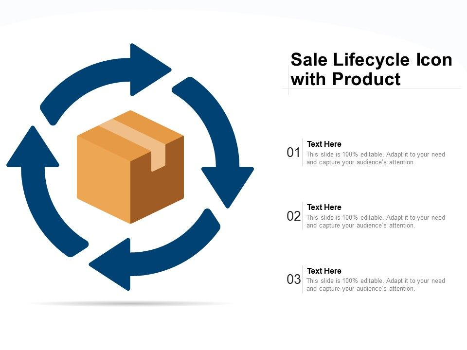Sale Lifecycle Icon With Product