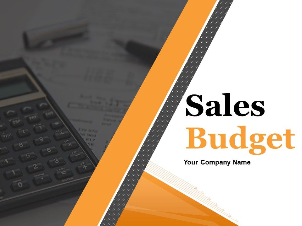 sales budget powerpoint presentation slides templates powerpoint
