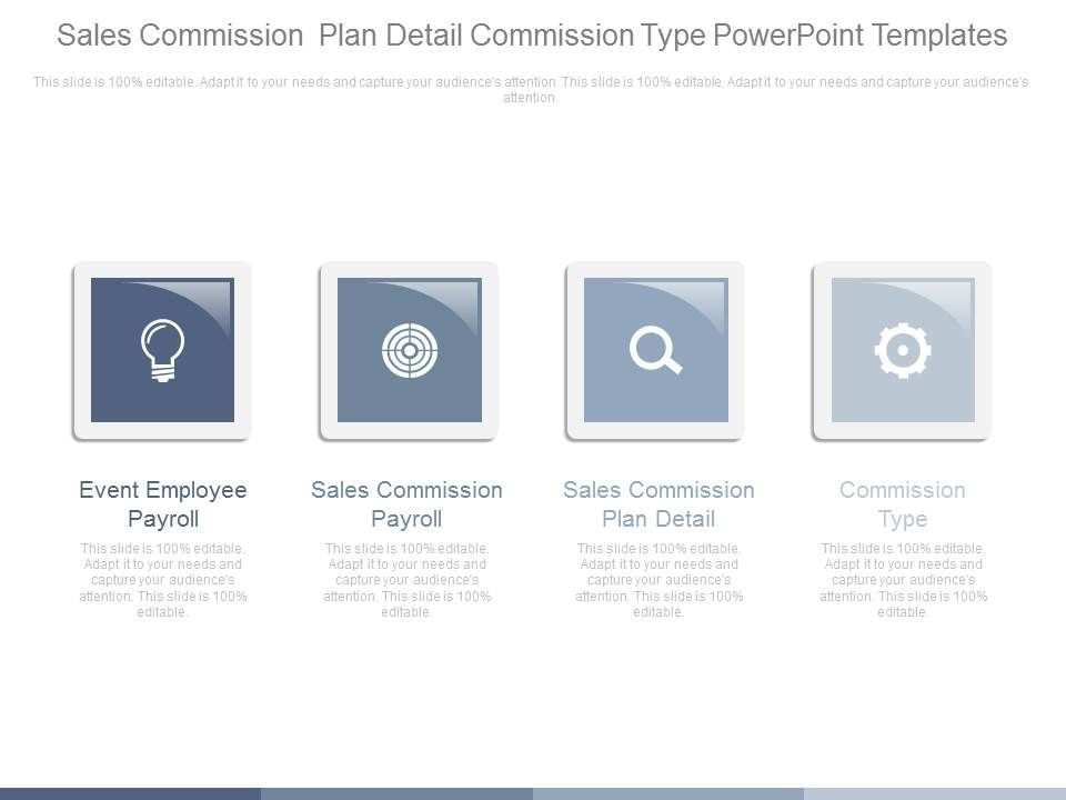 Sales Commission Plan Detail Commission Type Powerpoint Templates
