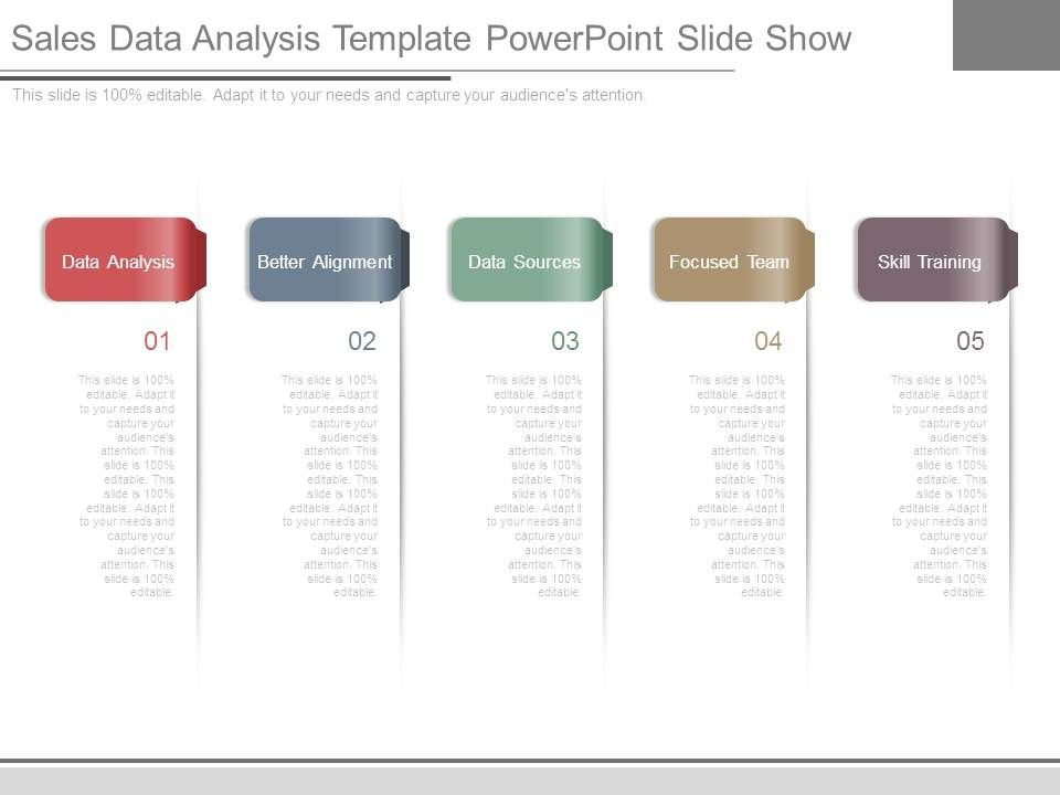 Sales Data Analysis Template Powerpoint Slide Show | Powerpoint