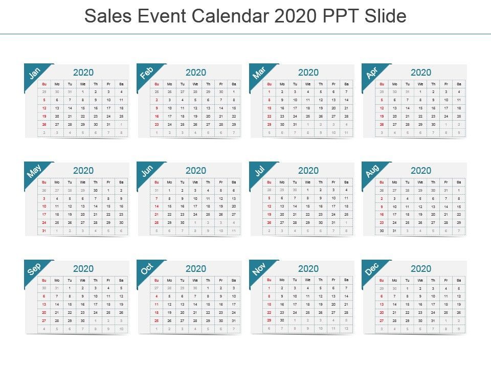 Events Calendar 2020.Sales Event Calendar 2020 Ppt Slide Presentation