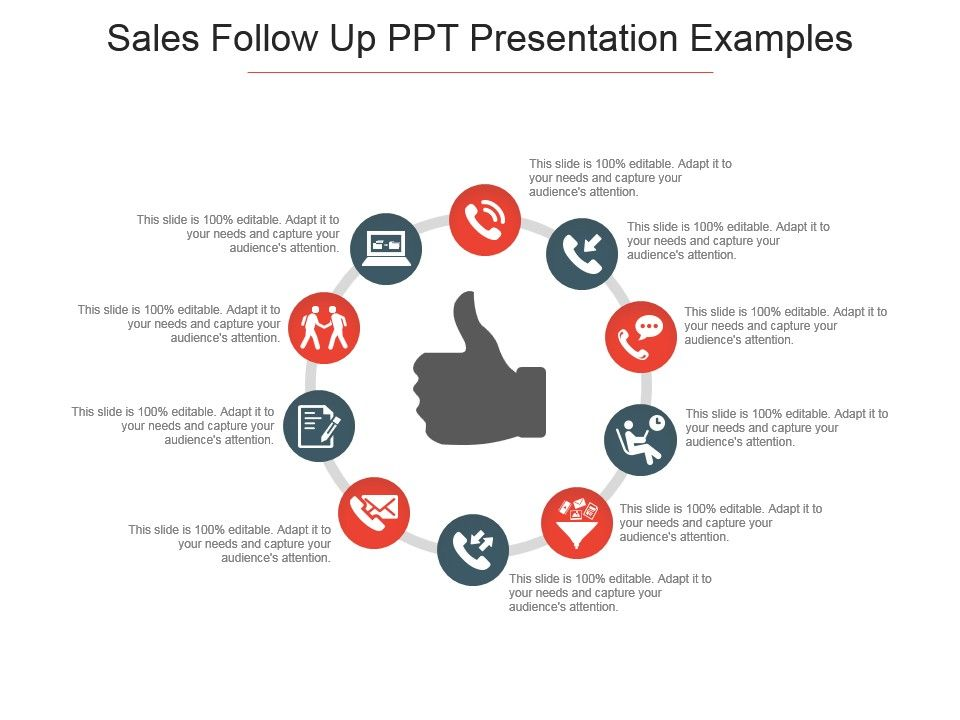 Sales Follow Up Ppt Presentation Examples | PowerPoint Slide
