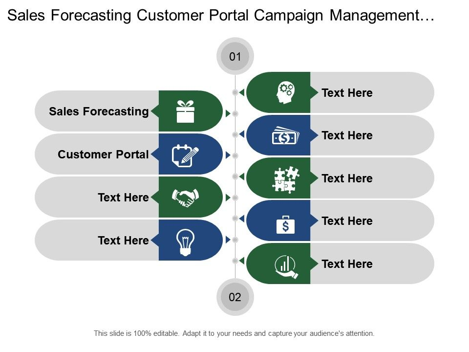 sales forecasting customer portal campaign management production