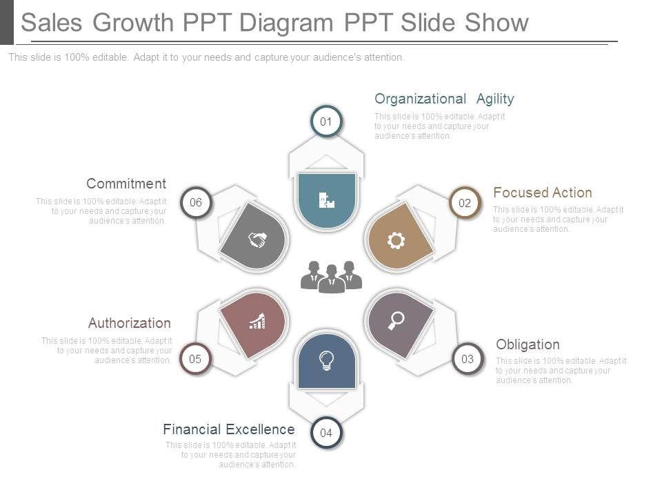 sales growth ppt diagram ppt slide show