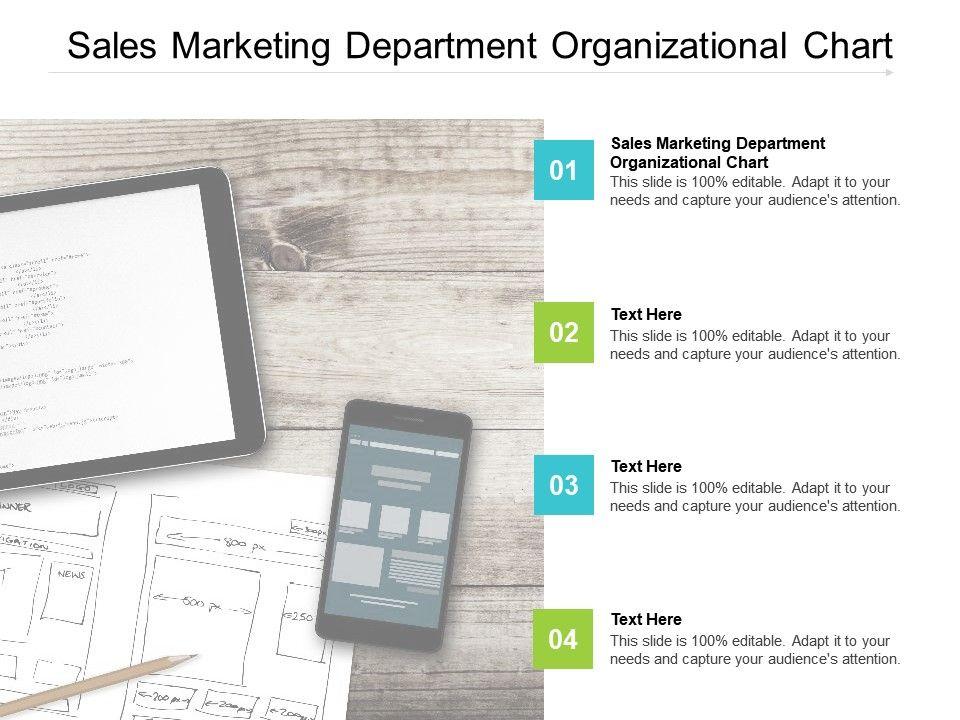 Sales Marketing Department Organizational Chart Ppt Powerpoint Presentation Gallery Format Cpb
