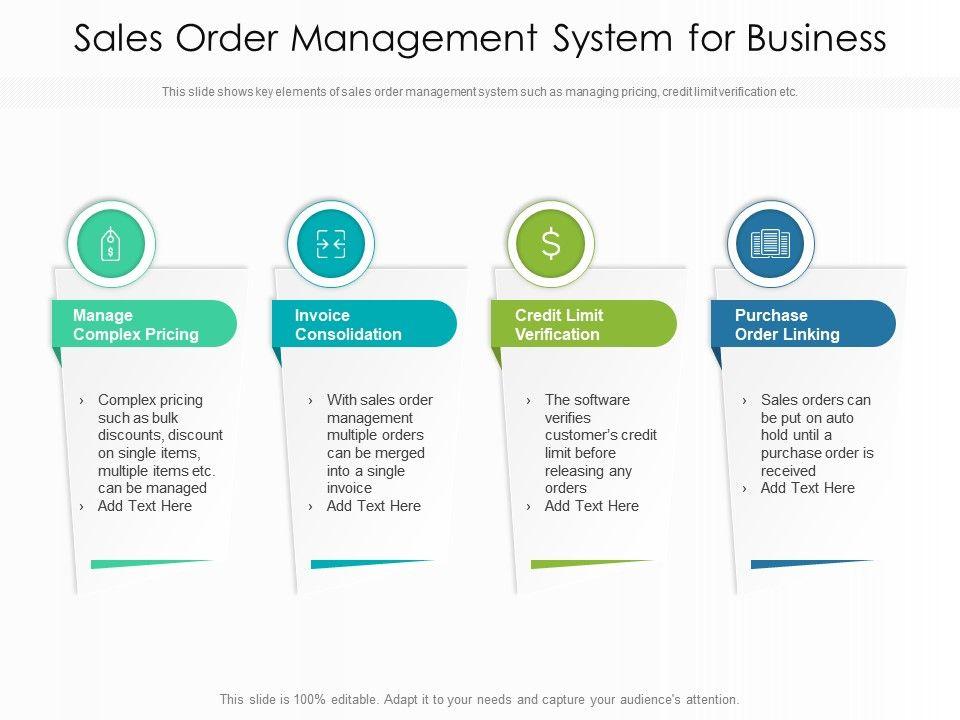 Sales Order Management System For Business