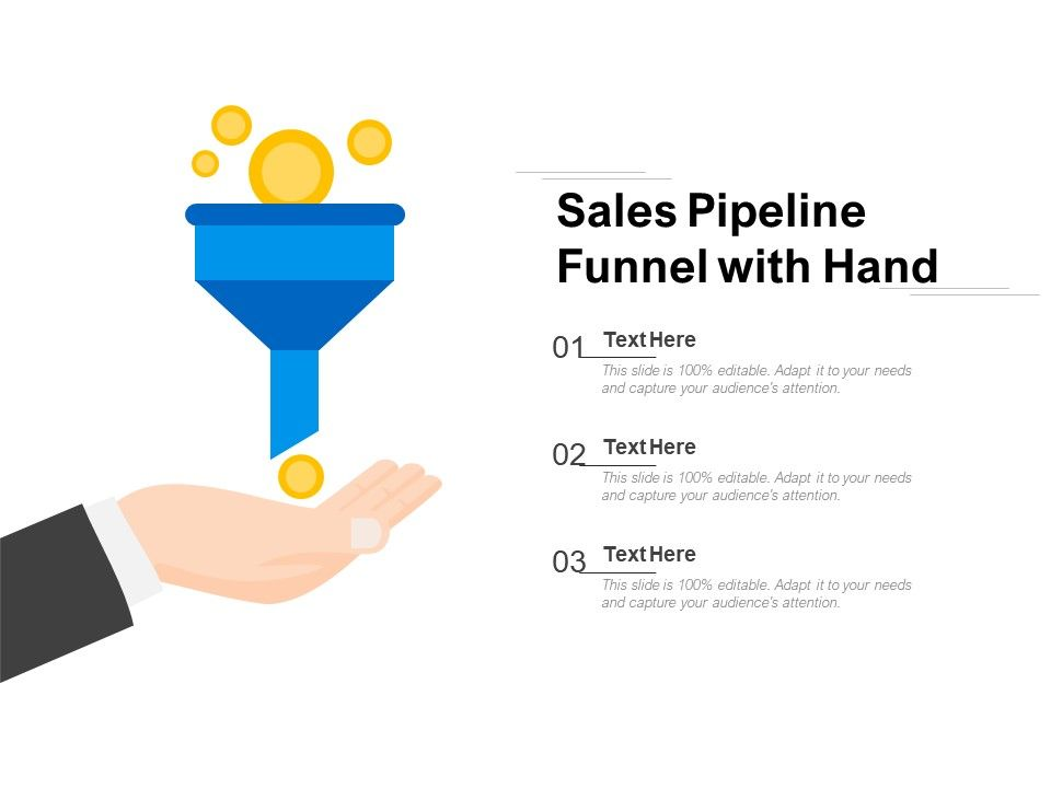 Sales Pipeline Funnel With Hand