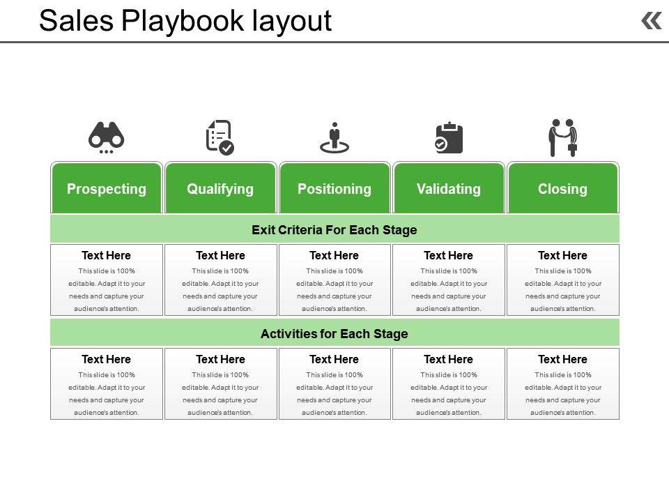 sales playbook layout powerpoint presentation powerpoint. Black Bedroom Furniture Sets. Home Design Ideas
