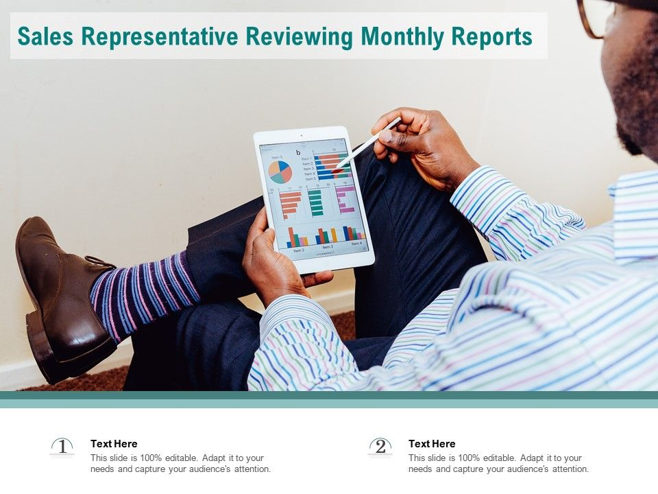 Sales Representative Reviewing Monthly Reports