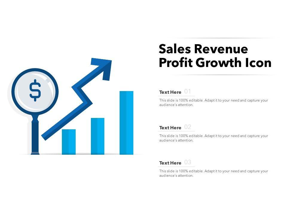 Sales Revenue Profit Growth Icon