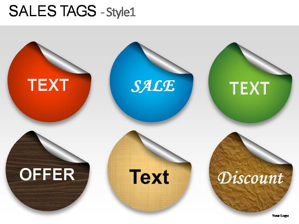 sales tags style 1 powerpoint presentation slides | powerpoint, Presentation templates