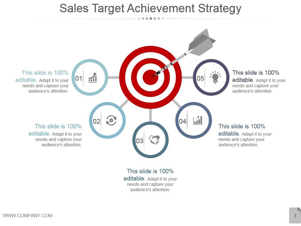 sales target achievement strategy powerpoint themes | powerpoint, Target Corporation Powerpoint Presentation Template, Presentation templates