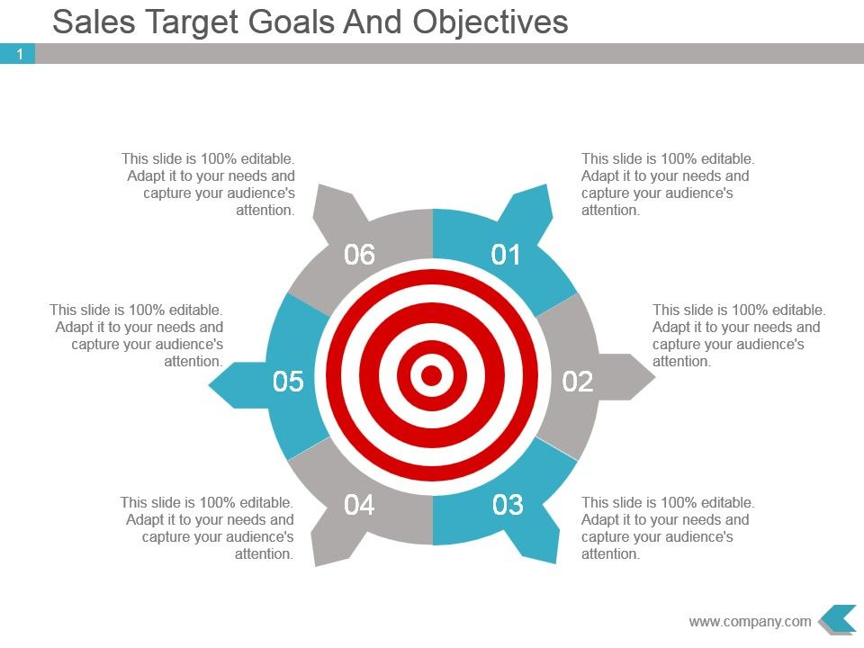 sales target goals and objectives powerpoint slides powerpoint
