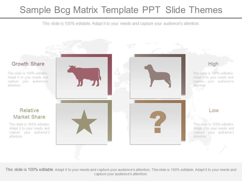 sample bcg matrix template ppt slide themes | presentation, Modern powerpoint