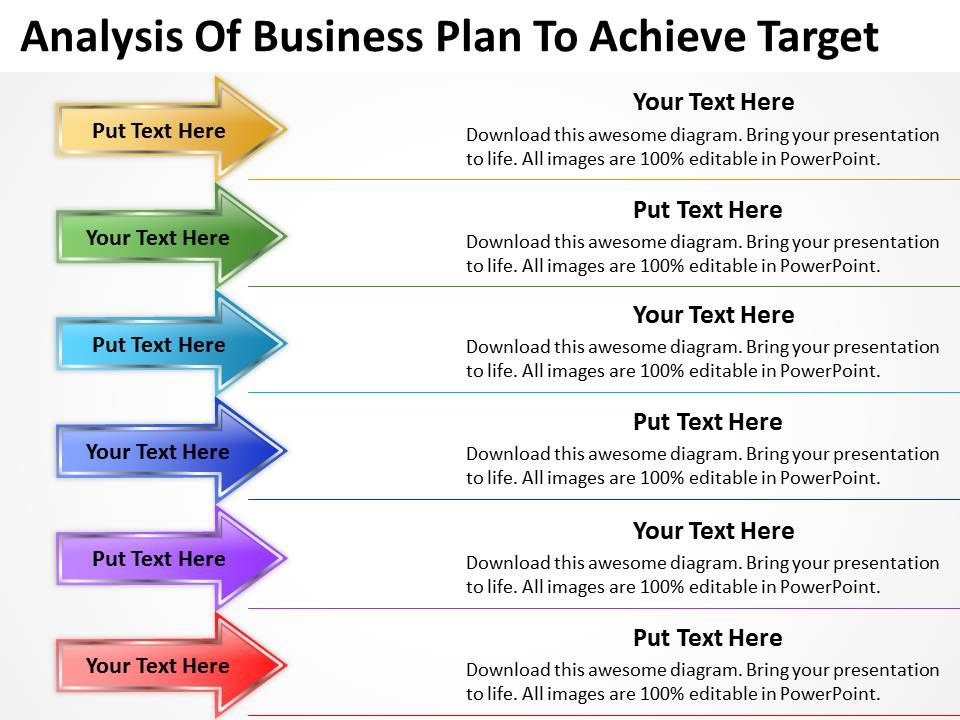 sample business powerpoint presentation of plan to achieve target
