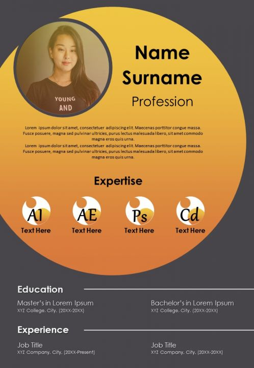 Sample Curriculum Vitae Template With Expertise