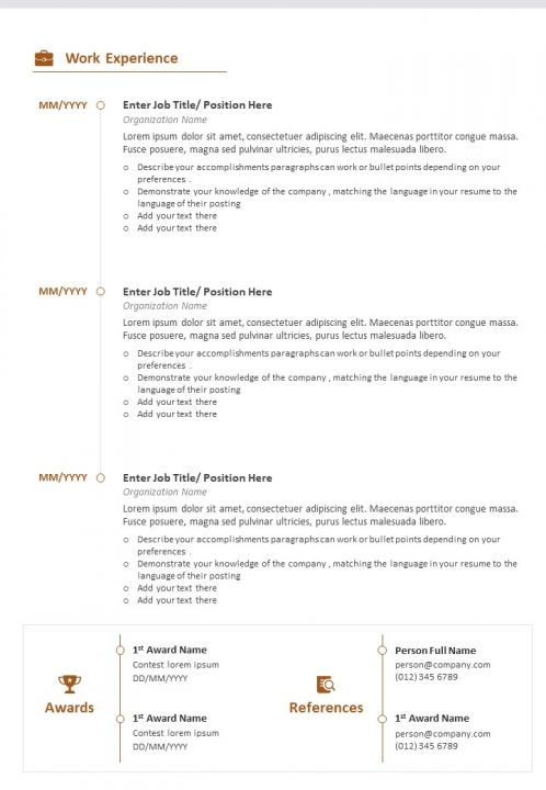 Sample Of Cv For Job Application Powerpoint Presentation Sample