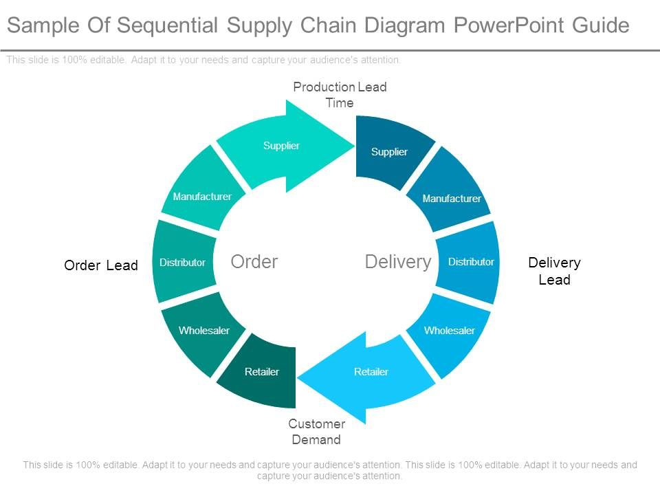 Sample Of Sequential Supply Chain Diagram Powerpoint Guide