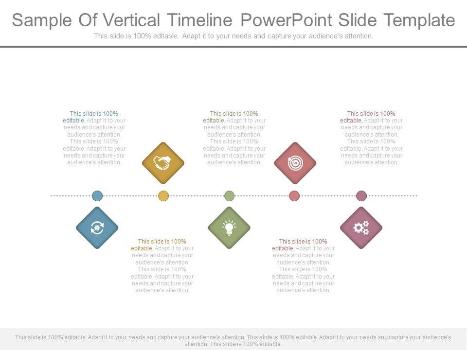 sample of vertical timeline powerpoint slide template