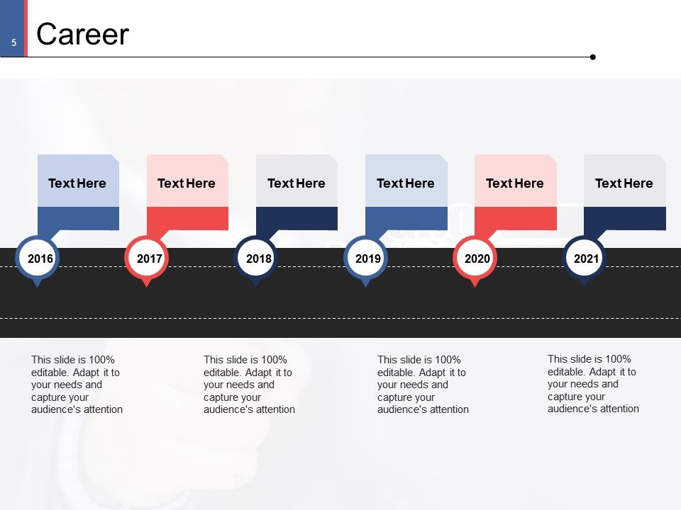 Career Portfolio Template Powerpoint
