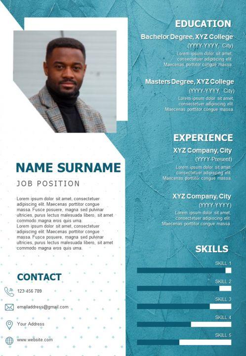 Sample Resume Design For Job Search Impressive Cv Template