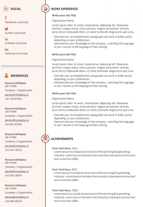 Sample Resume Format For Job Search Powerpoint Templates Designs