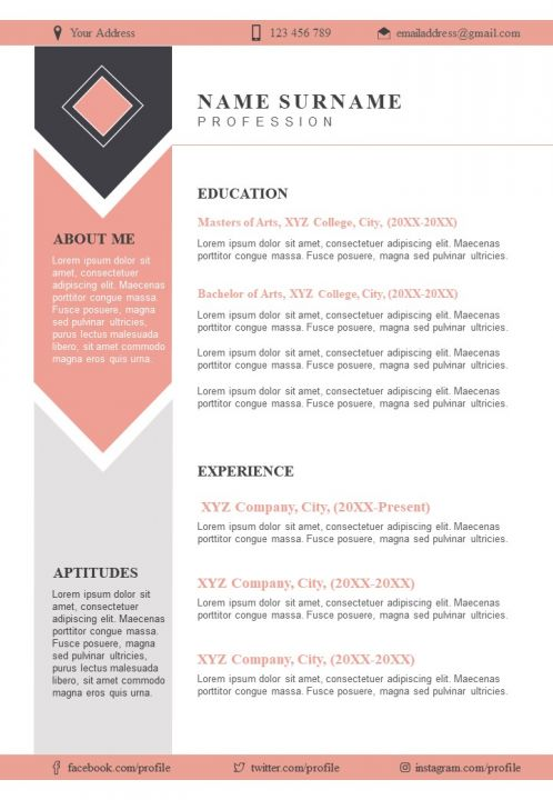 Sample Resume Format With Skills And Awards Section Presentation Graphics Presentation Powerpoint Example Slide Templates