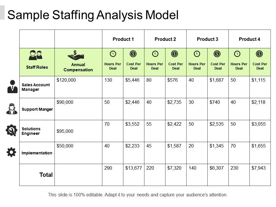 Sample Staffing Analysis Model | PowerPoint Presentation