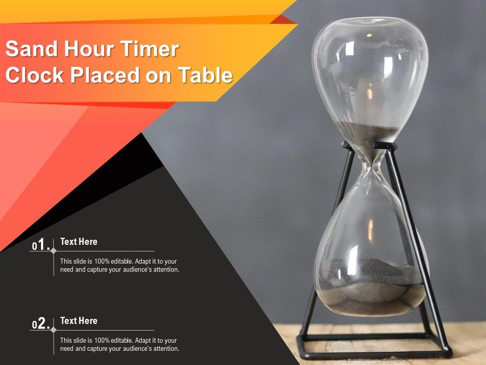Sand Hour Timer Clock Placed On Table