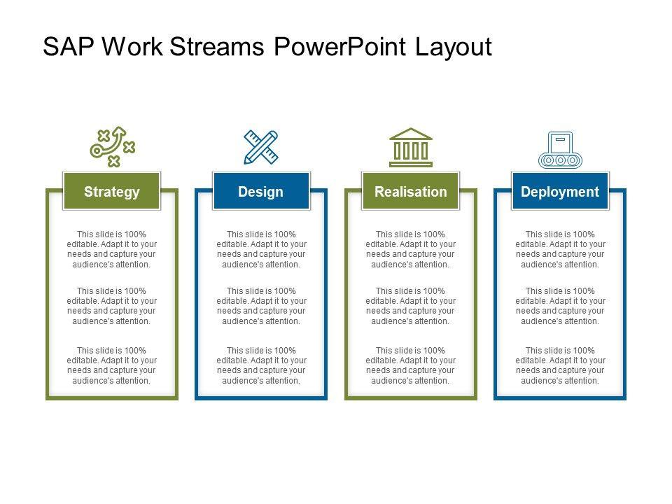 sap work streams powerpoint layout | graphics presentation, Presentation templates