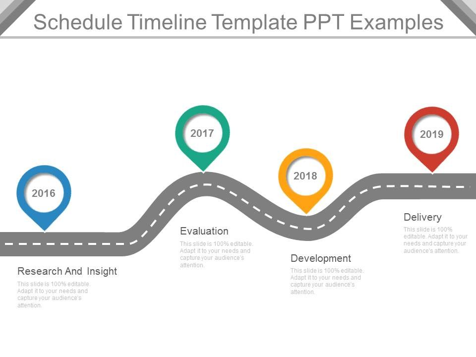 Schedule Timeline Template Ppt Examples | Powerpoint Templates