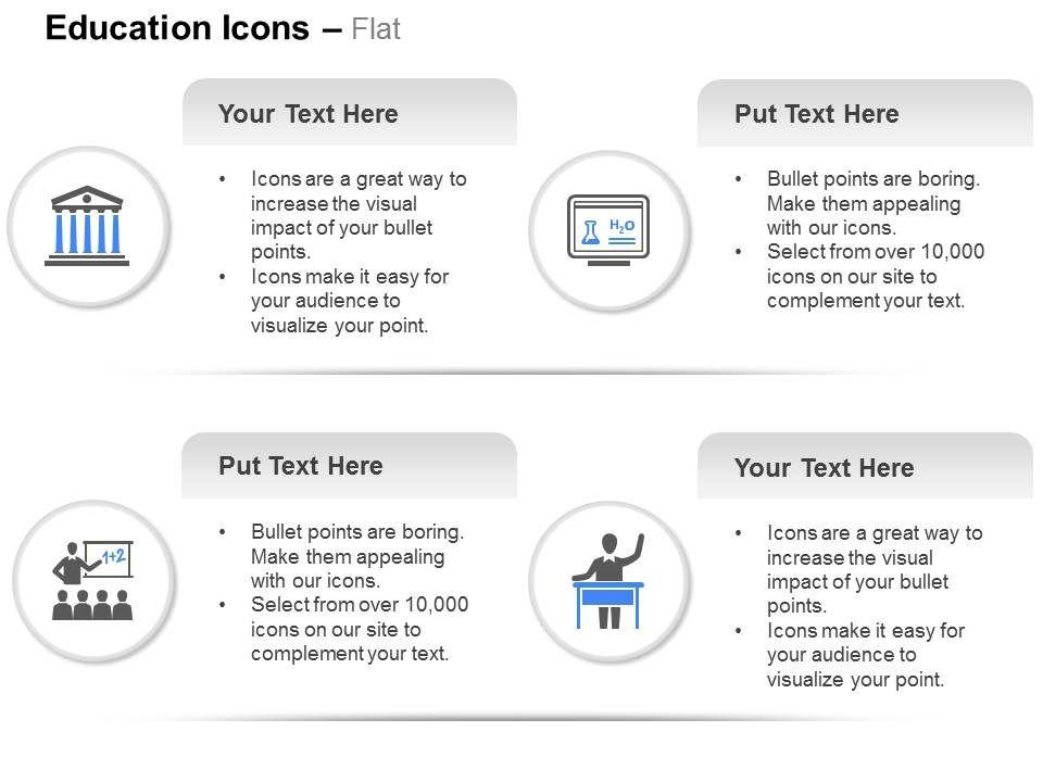 school online teaching classroom student ppt icons graphics, Presentation templates