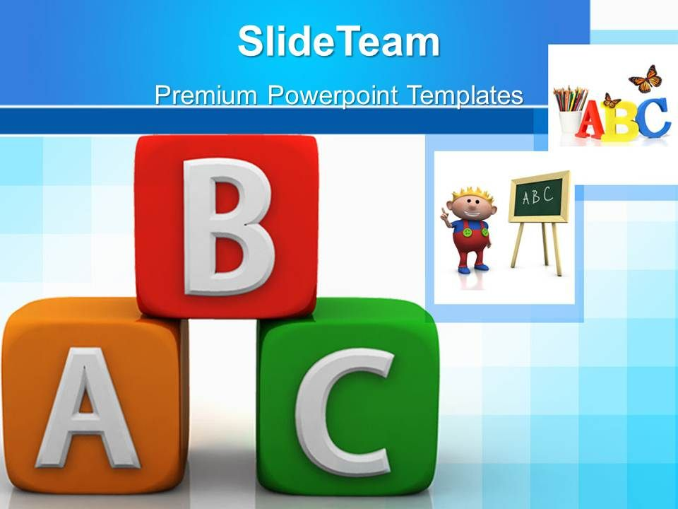 School Templates For Powerpoint Alphabhetic Education Ppt