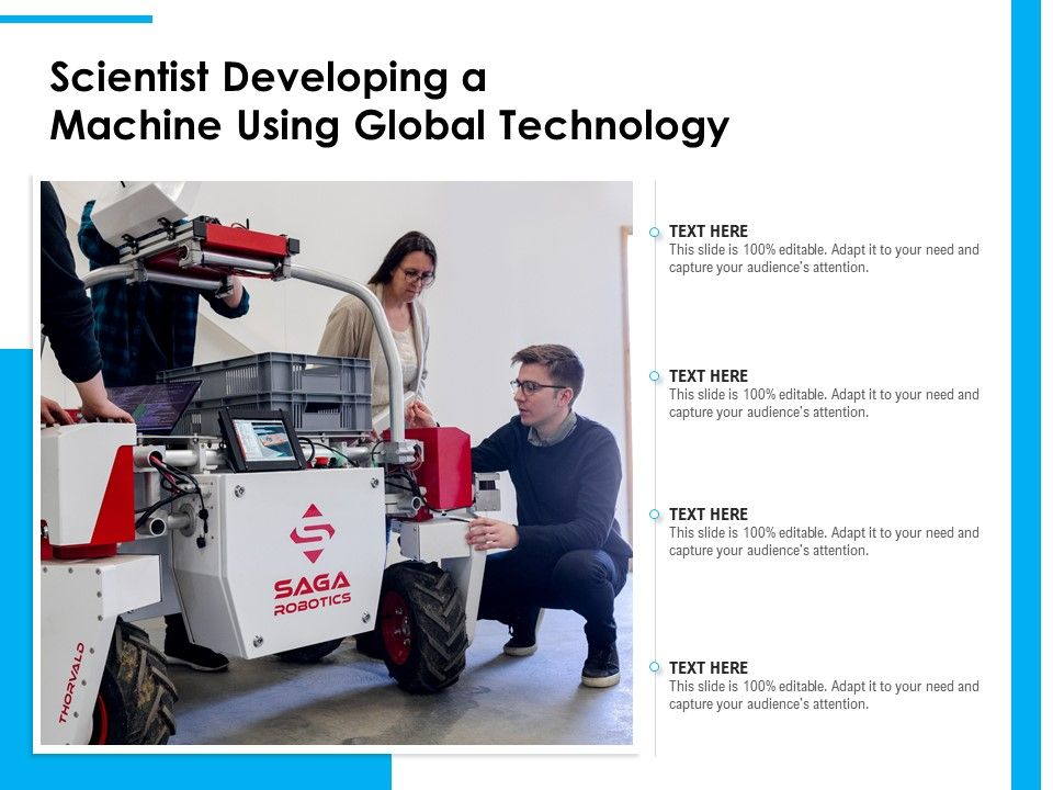 Scientist Developing A Machine Using Global Technology