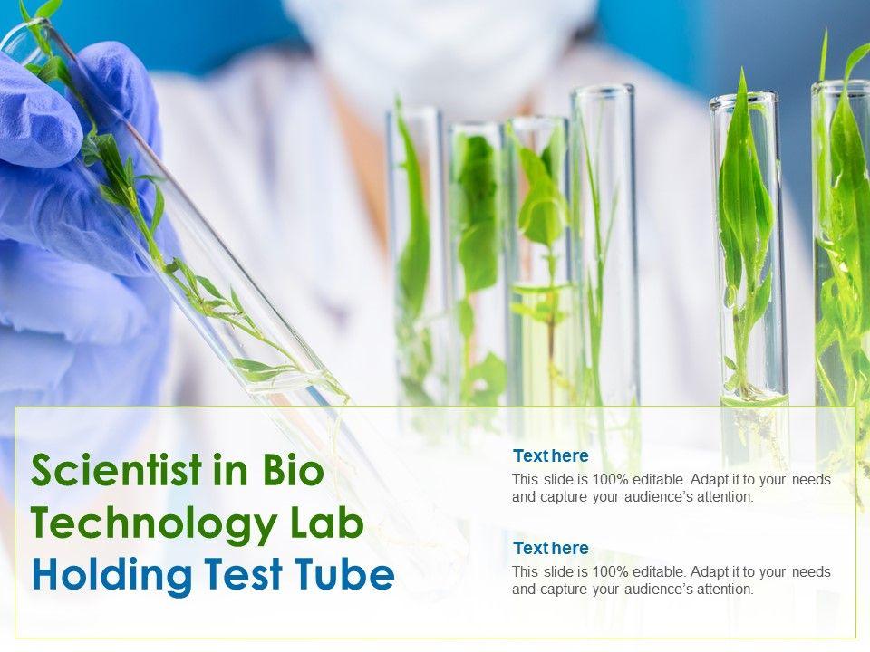Scientist In Bio Technology Lab Holding Test Tube