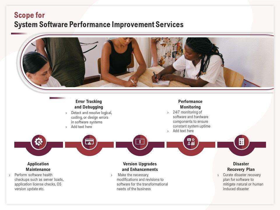 Scope For System Software Performance Improvement Services Ppt File Slides
