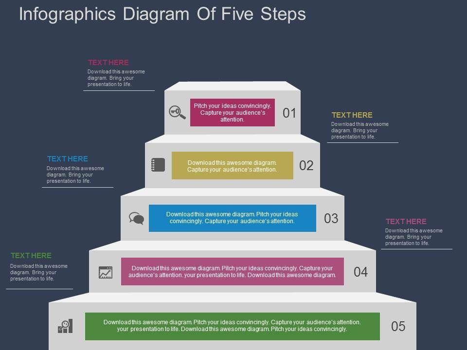 se_infographics_diagram_of_five_steps_flat_powerpoint_design_Slide01