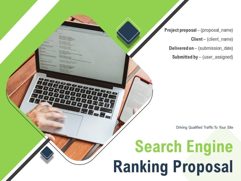 Search Engine Ranking Proposal Powerpoint Presentation Slides