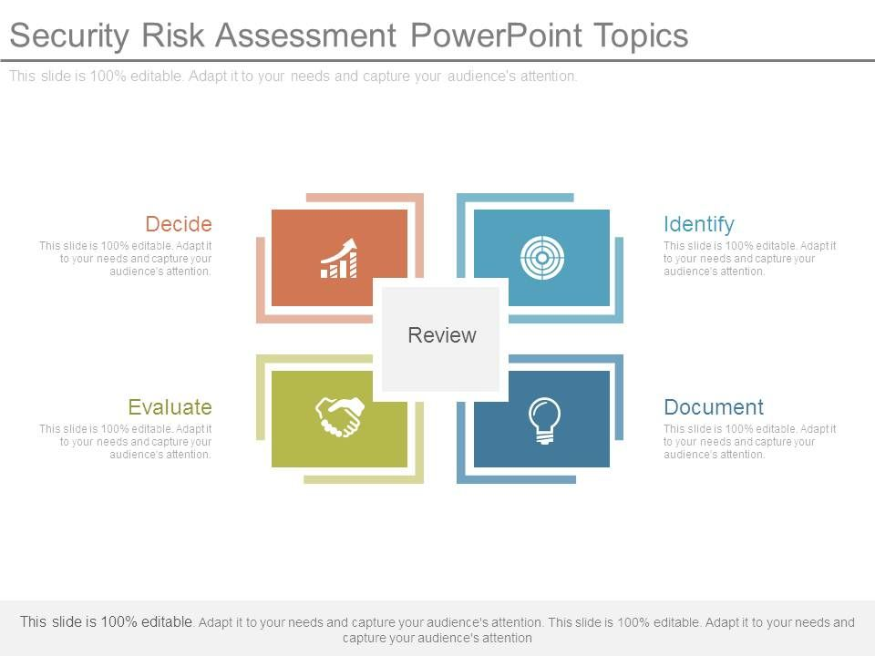 Security Risk Assessment Powerpoint Topics | Powerpoint Templates